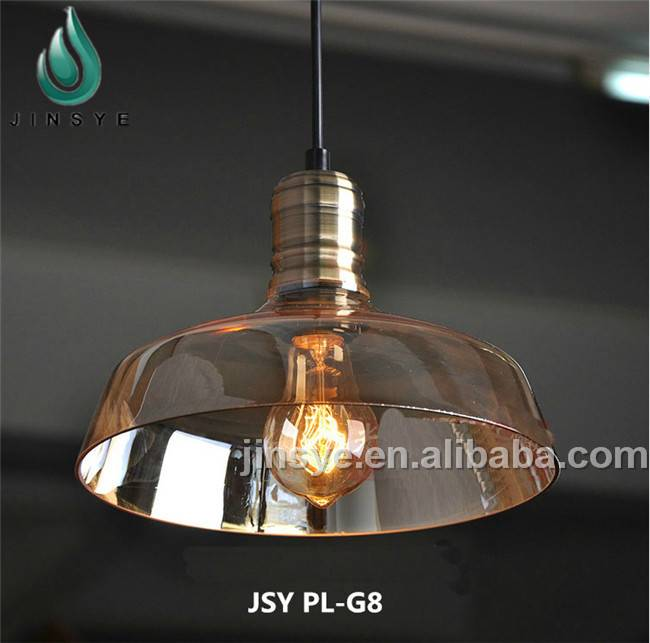 Colorful clear glass big pendant lamp decoration chanderlier pendant light
