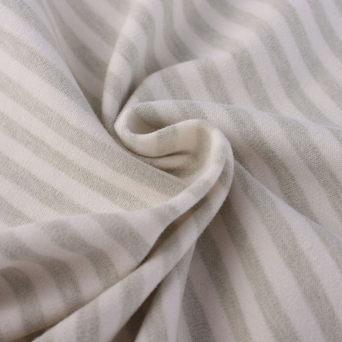Organic Cotton Fabric With Green Stripes