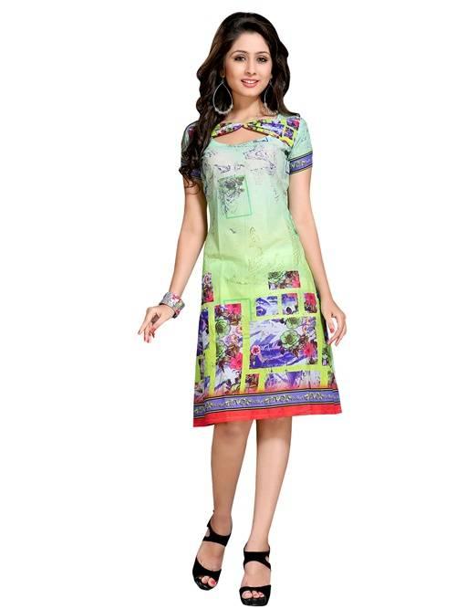 cotton multicolour colour  printed kurti  VTVIC-025