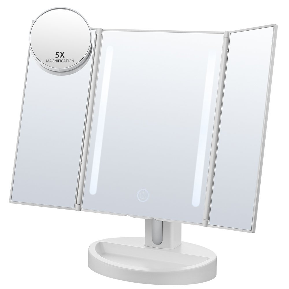New 180 degree Adjustable Brightness 36 LED Lighted Vanity Mirror