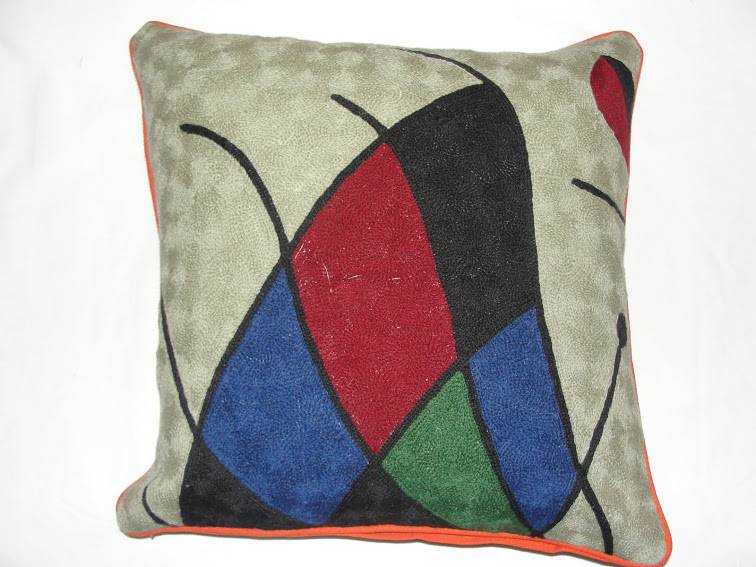 Crewel Chainstitch Pillow Ananth Multi Cotton (20x20)