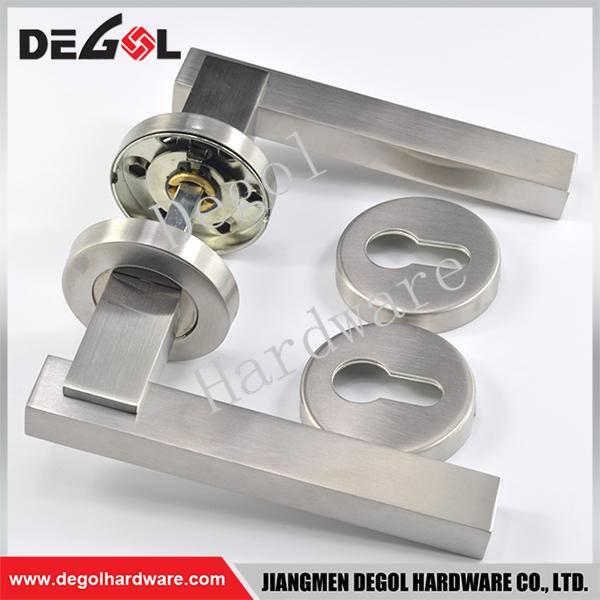 Latest stainless steel solid lever type indian door handles