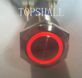 19mm Ring illumination switch/ pushbutton switch/metal switch/metal pushbutton switch