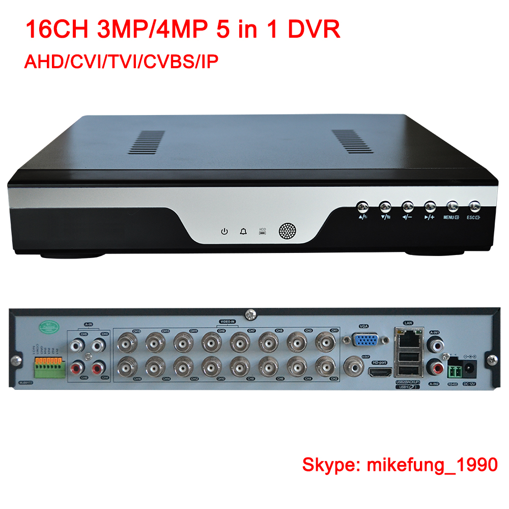 16 Channel 4MP DVR Recorder Support AHD CVI TVI Analog IP Security Camera
