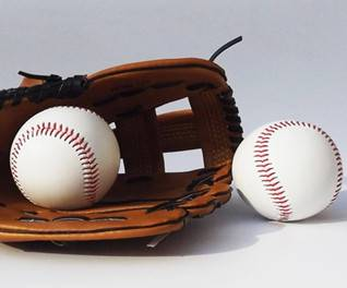 leather and hand sewn hard baseball