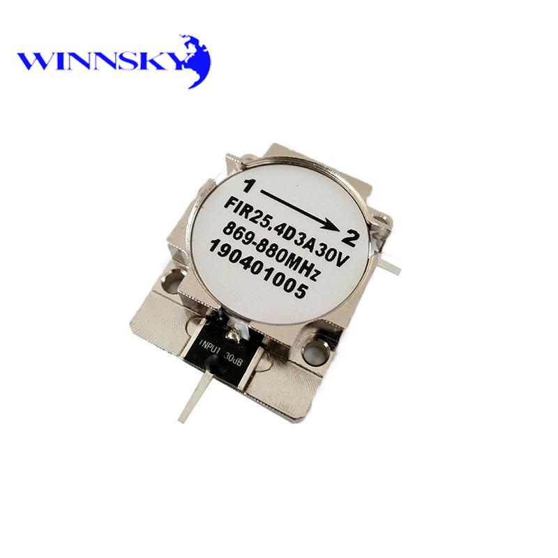 WINNSKY RF Isolator 869MHz~880MHz Drop-in TAB Connectors 30dB Attenuation Factory Direct Offer