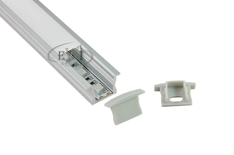 Recessed aluminium led profile for mounting