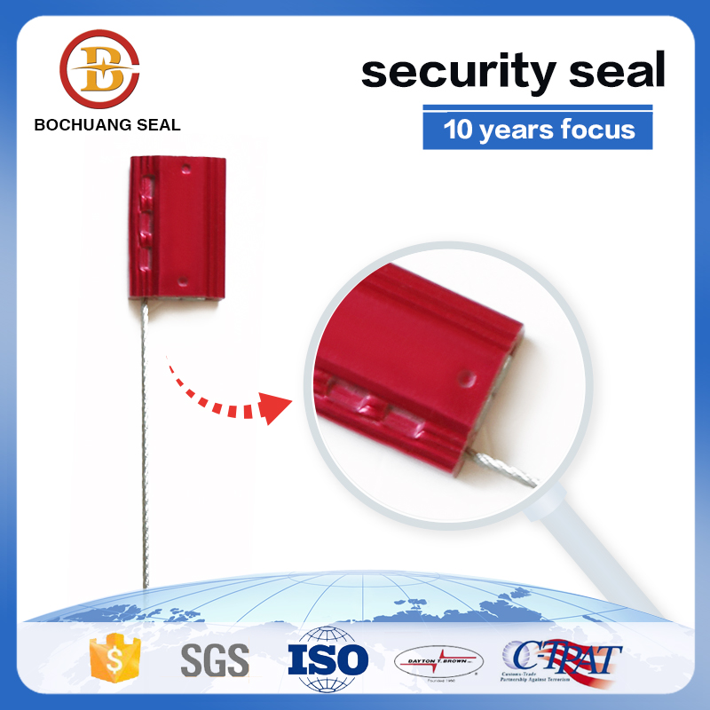 disposable 3mm high security cable seal with series numbers C207