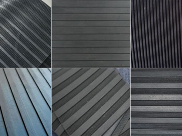Wide ribbed rubber sheet/mat/flooring rubber pad