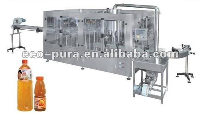 3-in-1 Monobloc Hot Juice/Tea Filling Machine 8000B/H@500ml