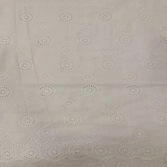 embroidered 100% cotton swiss voile eyelet fabric lace
