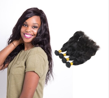 [8A]4 Bundles Indian Natural Wave Hair Weave