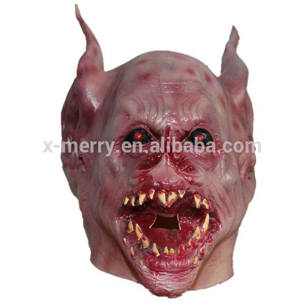 X-MERRY TOY Halloween Mask Horror Monster Vampire Bat Full Head Face Mask Film Makeup Prop Cosplay