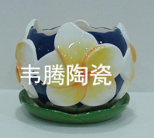 Top wholesale porcelain flower pot and saucer planter