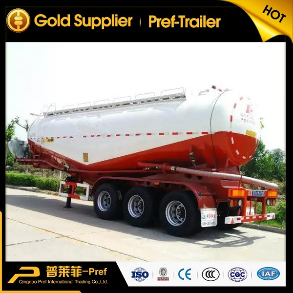 3 axles 60cbm low density powder tanker trailer with Weichai engine
