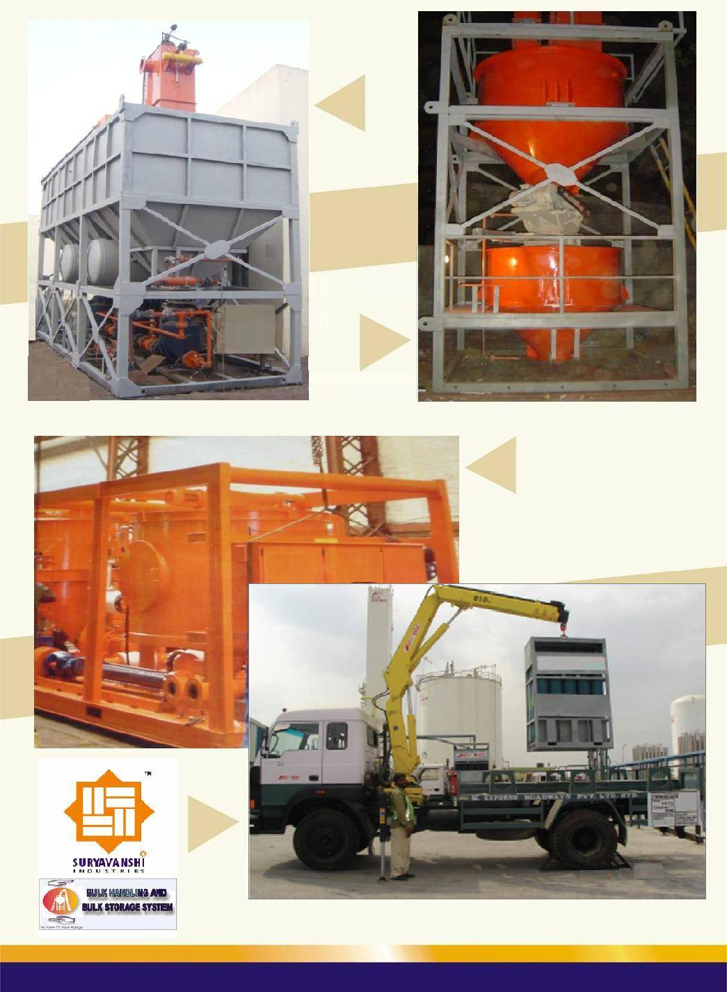 Modularized  Portable  Transportable  Containerized  Mobile Storage Silo System
