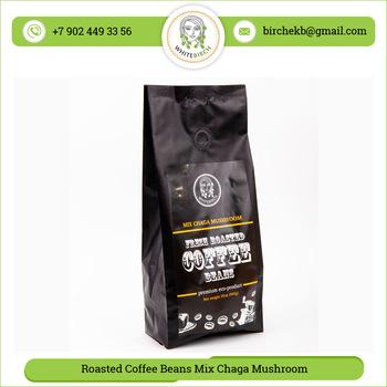 Coffee beans with Chaga