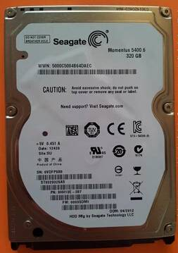 LAPTOP HARD DISK SEAGATE ST9320325AS 320G 2.5' 5400M 8MB