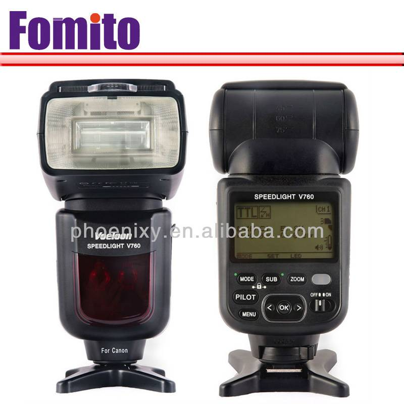 Fomito Voeloon TTL High Speed with Flash Voeloon camera flash speedlite for canon 5DII with V760