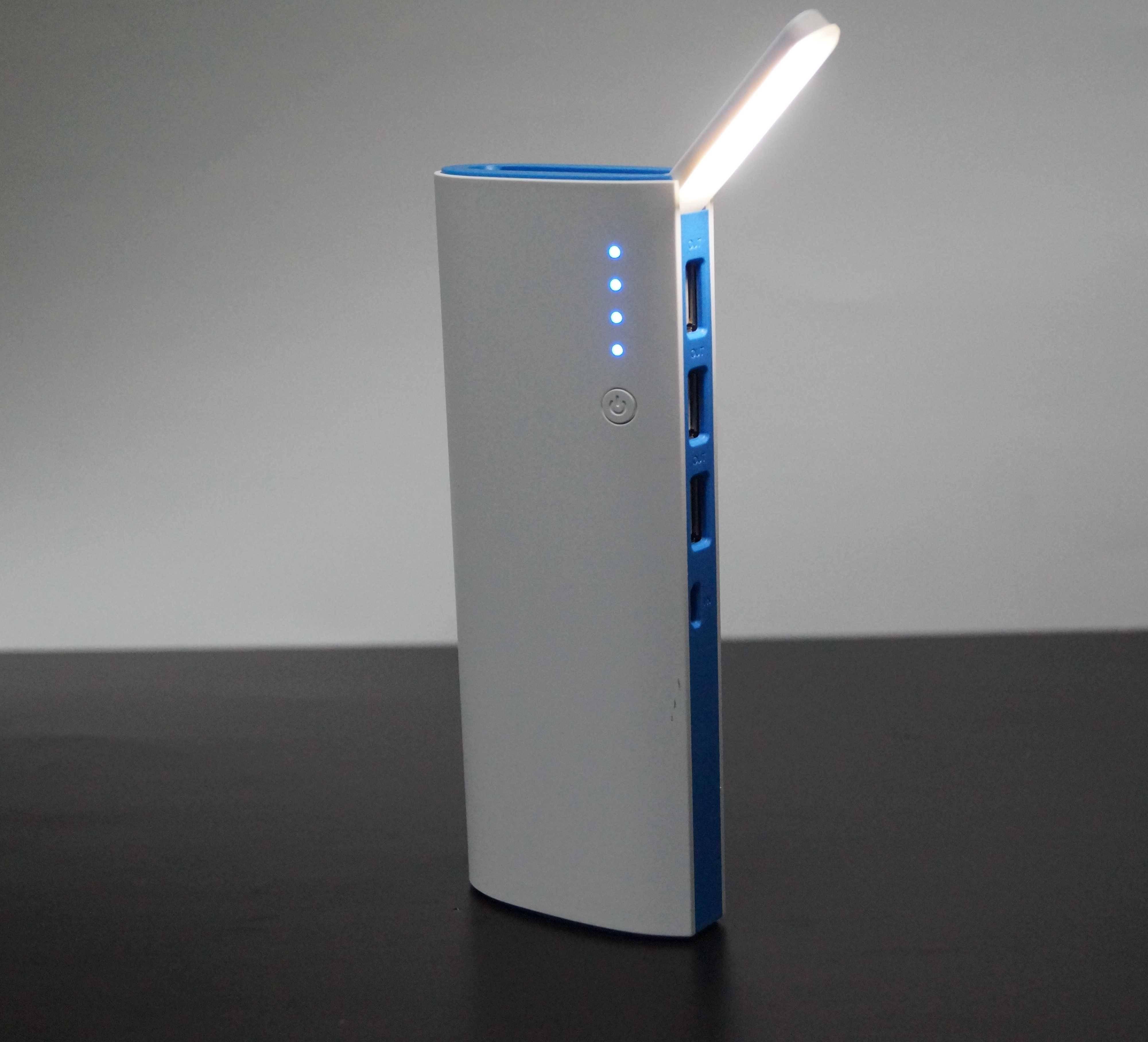 10,400 mAh Power Bank with LED Lamp