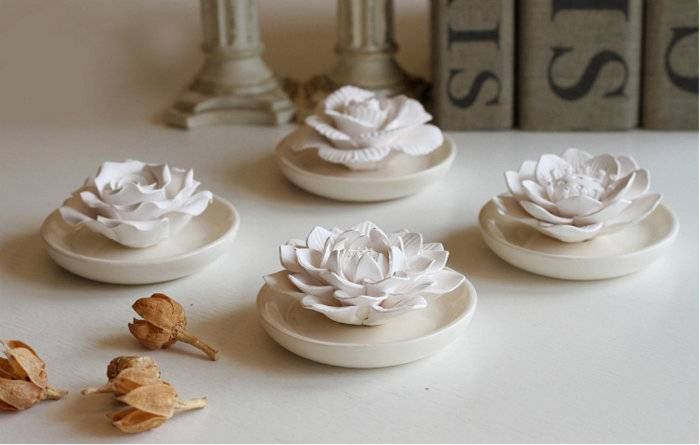 Modern minimalist flower fragrance dish small ceramic ornaments