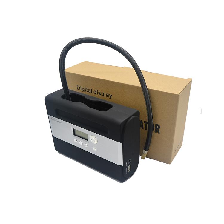 Portable size 12v auto tire inflator air compressor for car tires