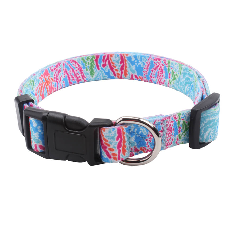 Custom pet collar: Polyester Dog Collars Wholesale With Plastic Buckles