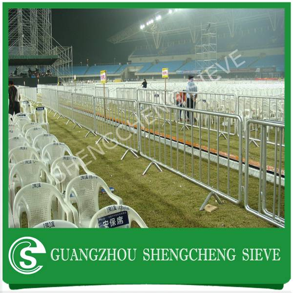 Australia galvanized steel fixed leg temporary fencing pedestrian crowd control barrier
