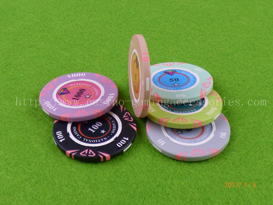 ABS Sumptous Personalized RFID Poker Chip , Small Individual Value For Blackjack Game