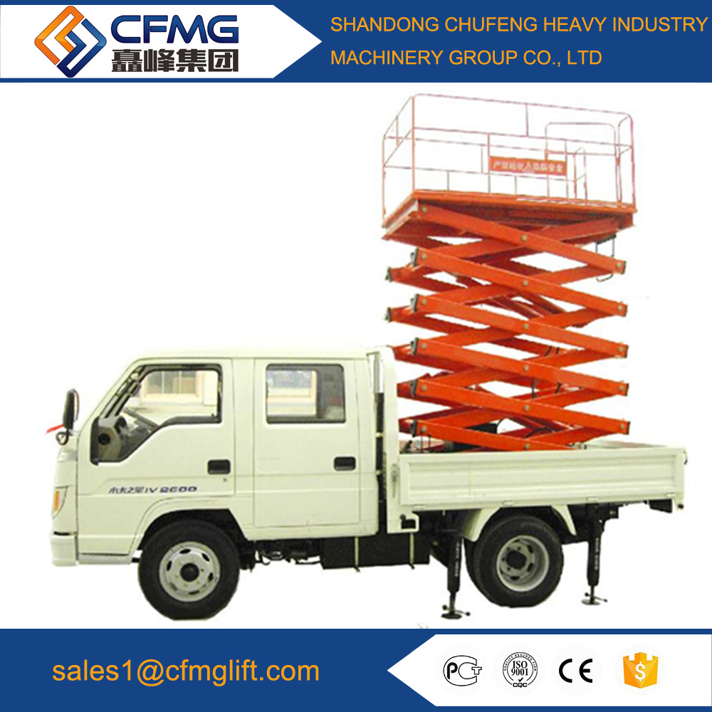 Factory direct supply truck mounted hydraulic lift table platform