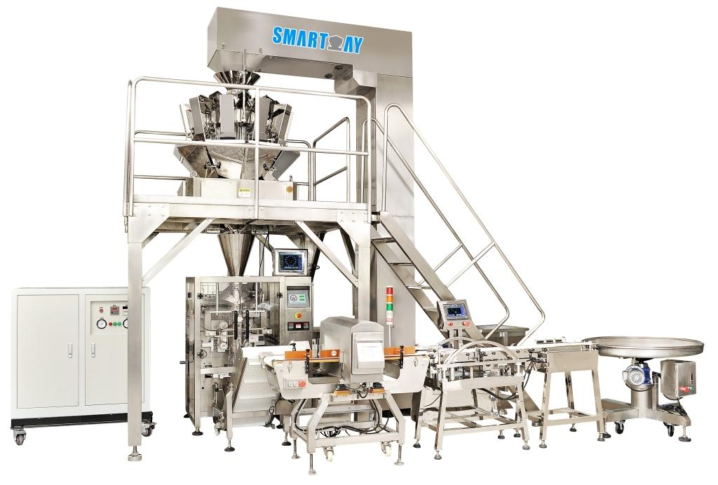 Dry Tea Leaf Vertical Packing Machine Line with Multihead Weigher