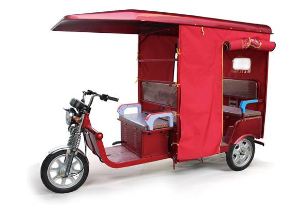 Romai three wheel cargo motocycle, battery rickshaw with CE approved