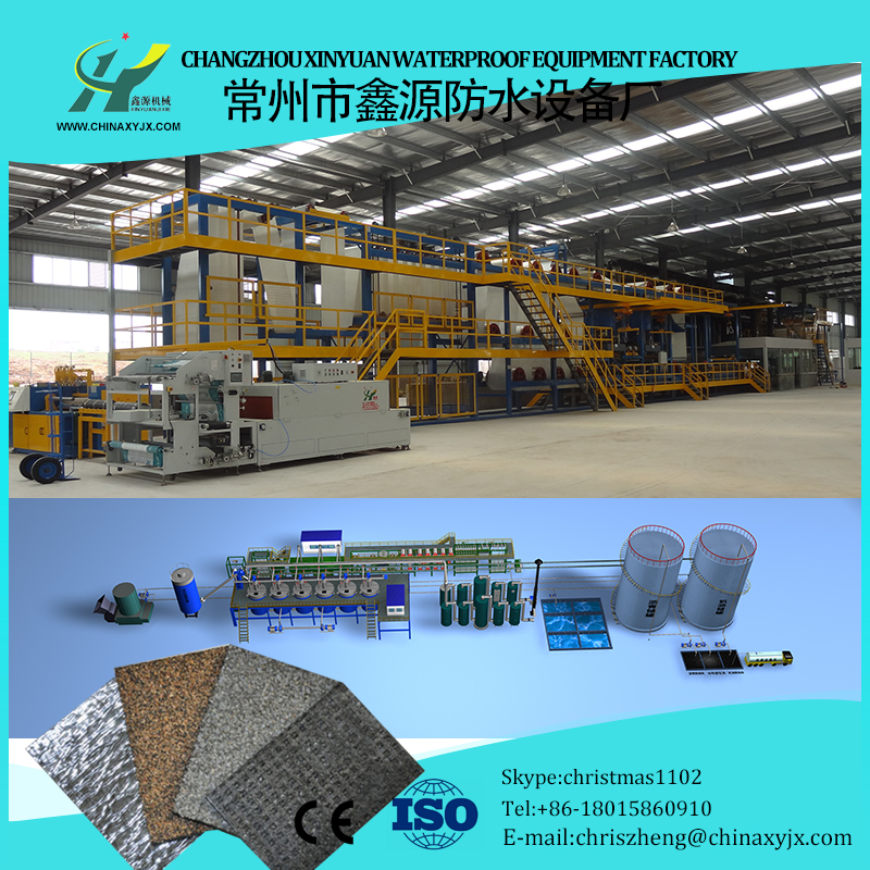 APP modified asphalt waterproof sheet making machinery