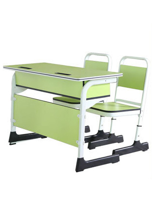 Double school desk / training desk and chair with multiply laminate top