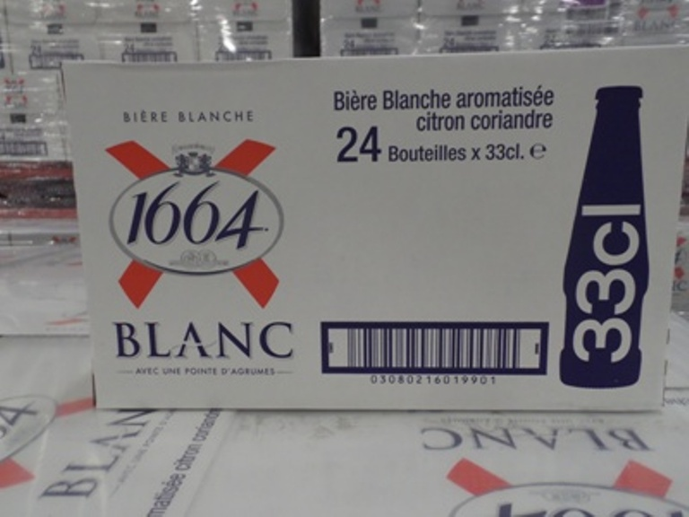 FRENCH ORIGIN KRONENBOURG 1664 BLANC 25CL AND 33CL LAGER BEER