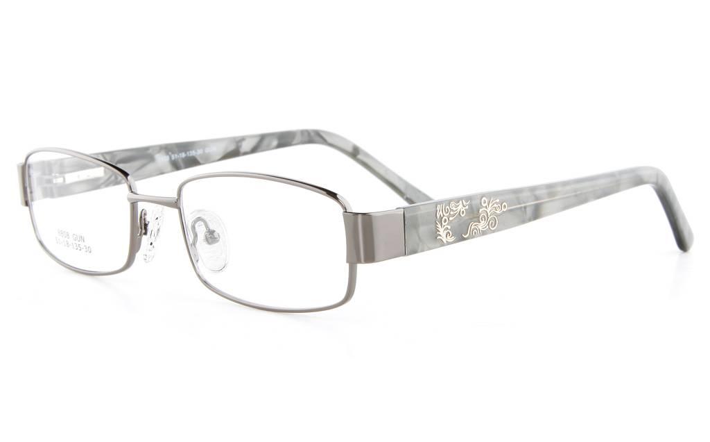 Gun 8808 Full Rim Oval Metal-Stainless Steel/ZYL Glasses