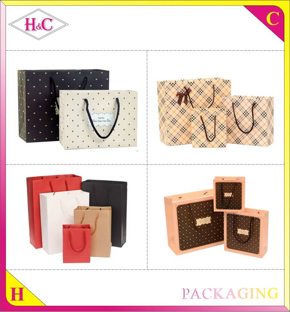 China Cheap Custom Luxury Fashion Handmade Color Advertising Promotional Shopping Bag