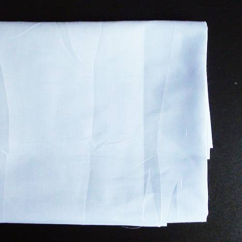 100% Polyester Bleached Fabric,Semi or Full Bleached,45*45