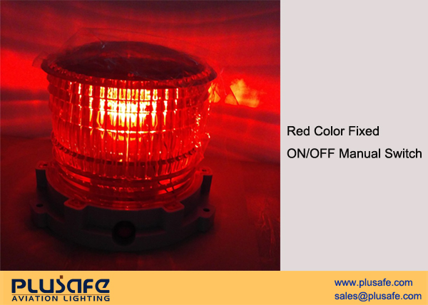 Low Intensity Type B Solar Obstruction Lighting LED ICAO Compliant Red Fixed