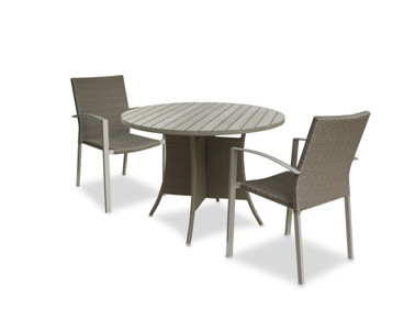 Outdoor wicker furniture simple dining set 1 table 4 chairs
