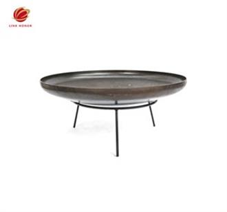 torispherical fire pits with oil