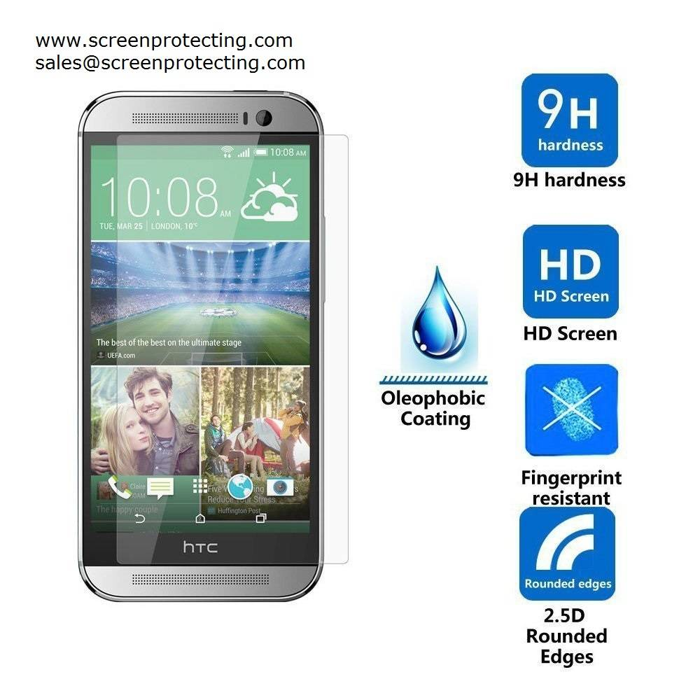 Screen Guard 2.5D Screen Shield 9H Premium Tempered Glass Screen Protector for HTC One E9