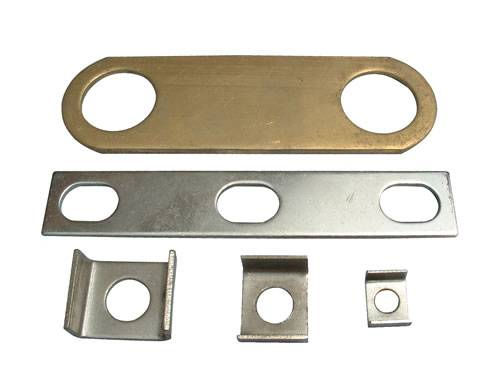 Custom Metal Stamping, Made of Carbon Steel with Zinc Plating