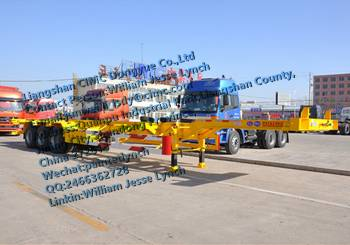 3 Axles Container Skeleton Semitrailer