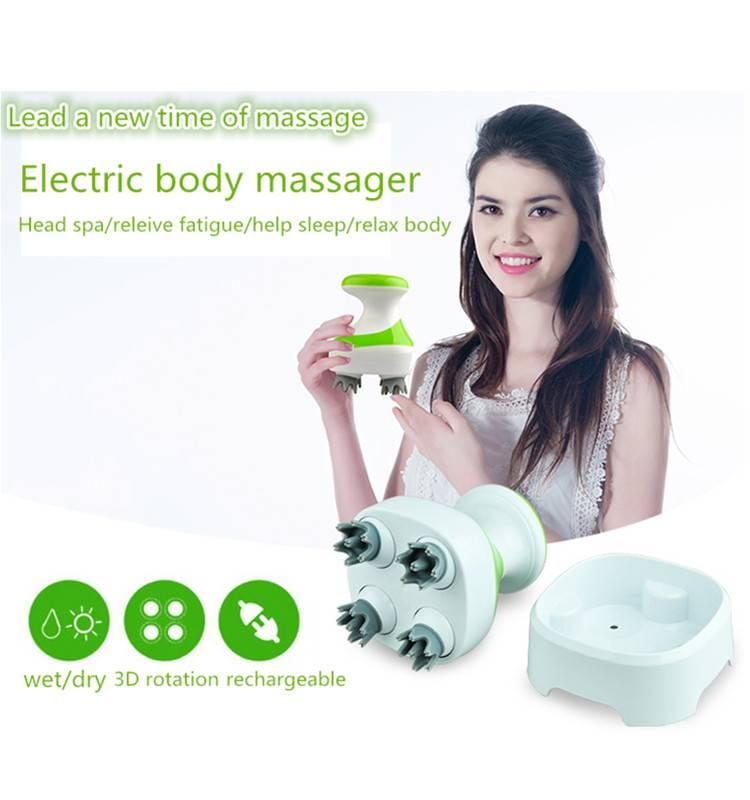 3 D zero gravity head shoulder neck use body massager