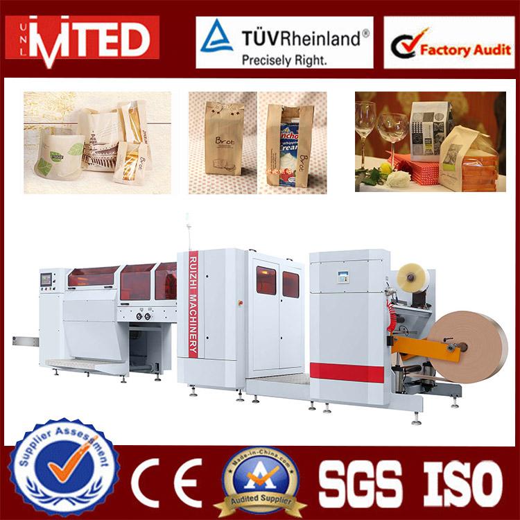 RZJD-G350J Automatic High Speed and Transparent Plastic Window Kraft Paper Bag Making Machine Price