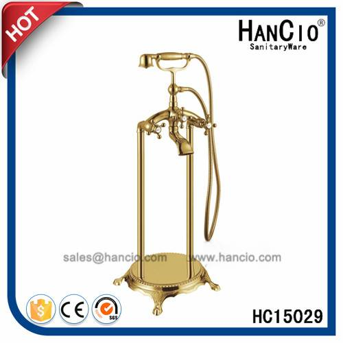 Gold Plated Floor Standing Bath Faucet (HC15029)