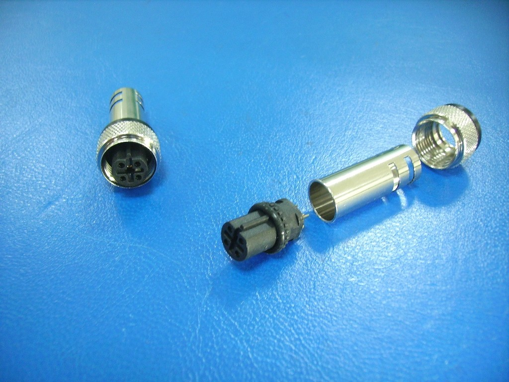 M12 5 PIN FEMALE B-CODE FOR CABLE