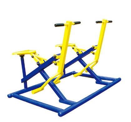 Outdoor fitness equipment double bike riders