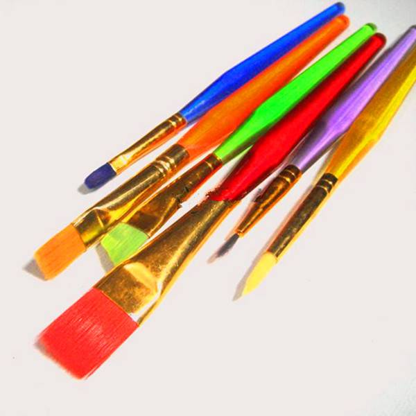 6Pcs Boys or Girls School Colorful painting brushes set